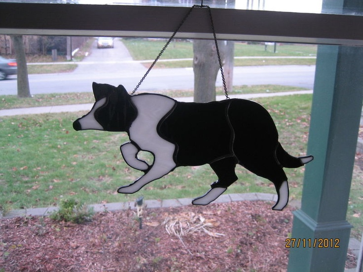 Best stained glass dogs images on pinterest