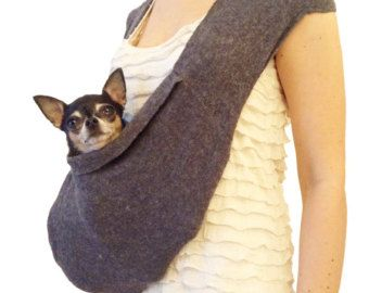Pet travel bag scarf sling carrier small dog tote by от HeartPup