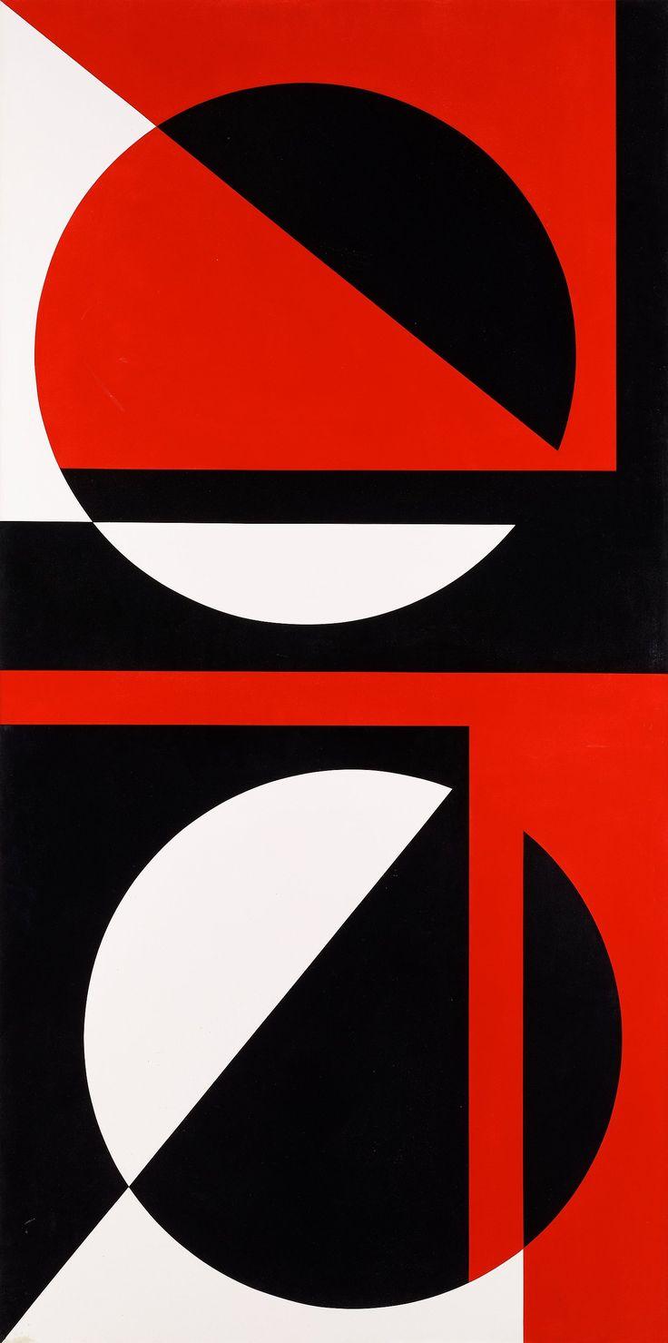 """GUNNAR NORDSTRÖM, """"TAUTOLOGY"""". Signerad LG Nordström och daterad -68 a tergo. Pannå 200 x 100 cm."""