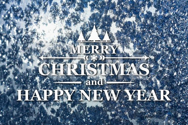 Qdiz Stock Photos | Merry Christmas and New Year greeting card,  #background #blue #blur #blurred #card #celebration #Christmas #eve #frozen #greeting #holiday #Merry #new #postcard #retro #season #snowflake #traditional #vintage #winter #xmas #year