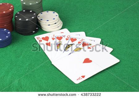Straight flush and poker chips
