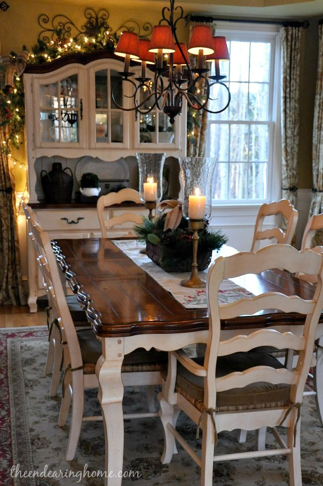 love the refinish on top of table this is the color im going country dining - Country Dining Room Sets