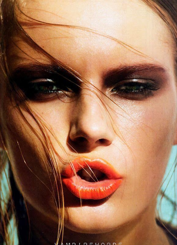 Chanel! Bregje Heinen and Ieva Laguna by Cedric Buchet for Ten Magazine: Bright Lip, Fashion, Cedric Bouquet, Makeup, Lips, Ieva Laguna, Beauty, Smokey Eye