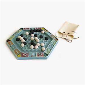 Abalone Ceramic Game Ornament - Juego de Abalone de cerámica, más información del juego en https://es.wikipedia.org/wiki/Abalone_(juego_de_mesa)