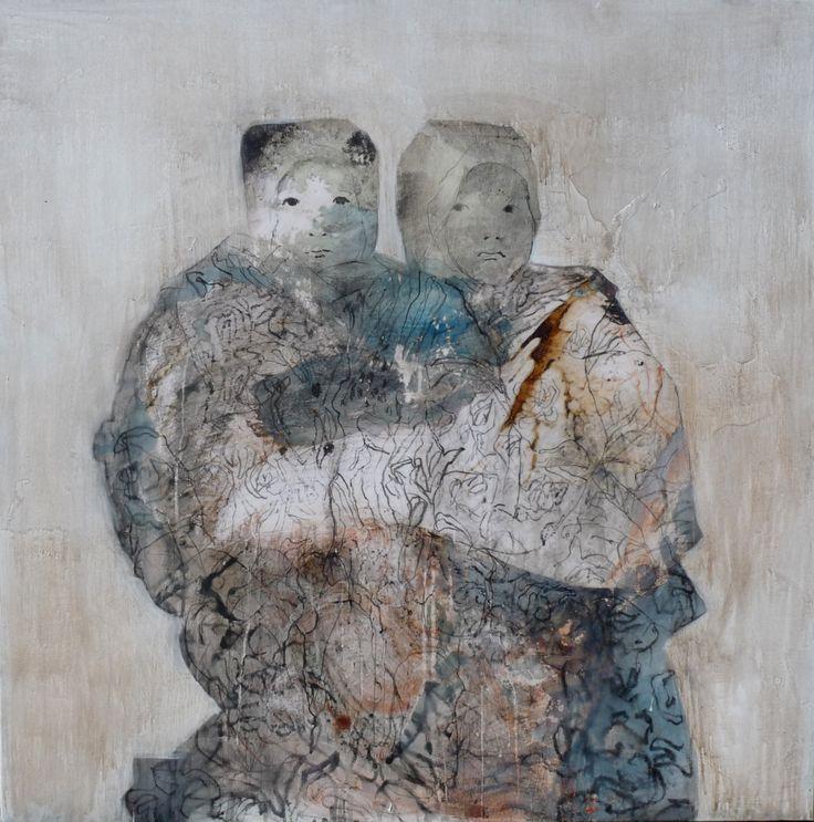 Portraits de famille ou l'image en fuite 2013-2015 Florence Dussuyer Painting art