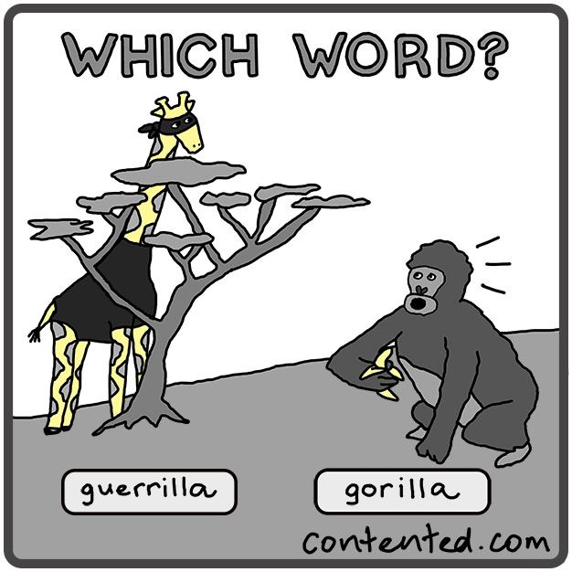 Correct spelling, grammar, word usage— get the answer at a glance from a cartoon. This 1-hour grammar course is also quick and fun: http://contented.com/collections/business-writing/products/painless-grammar
