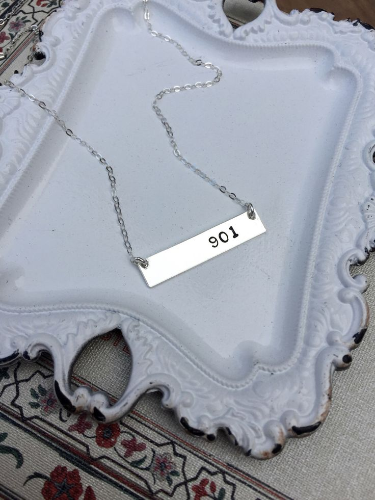 Area Code Bar Necklace / Area Code Necklace / Custom Area Code Necklace / Personalized Necklace by LaurenBrookJewelry on Etsy https://www.etsy.com/listing/256467260/area-code-bar-necklace-area-code