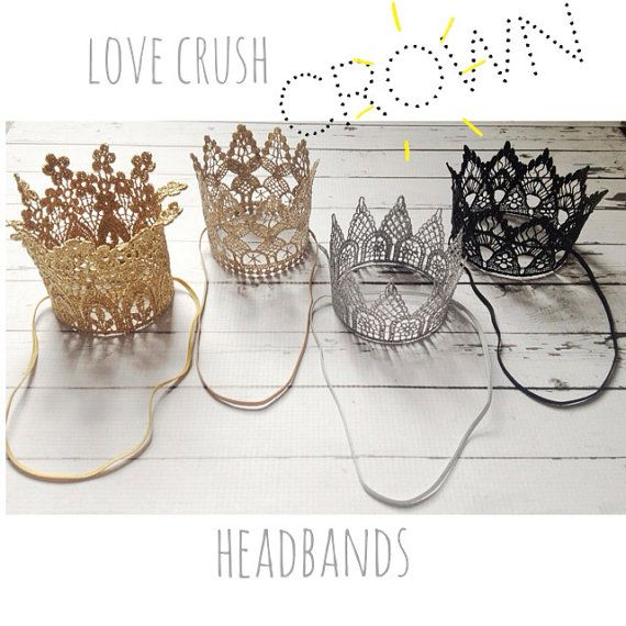 the harlow... mini vintage gold lace crown by lovecrushbowtique