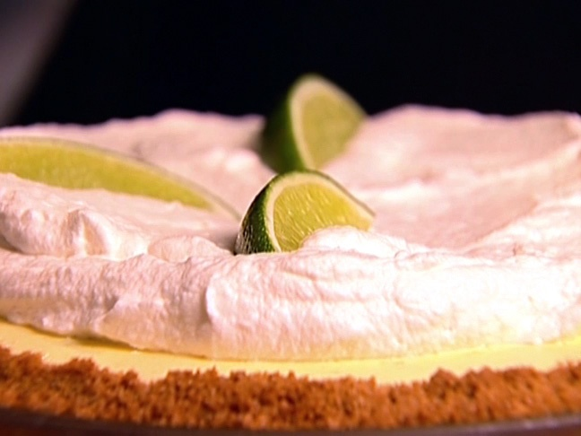 The Barefoot Contessa's Frozen Key Lime Pie  http://www.foodnetwork.com/recipes/ina-garten/frozen-key-lime-pie-recipe3/index.html