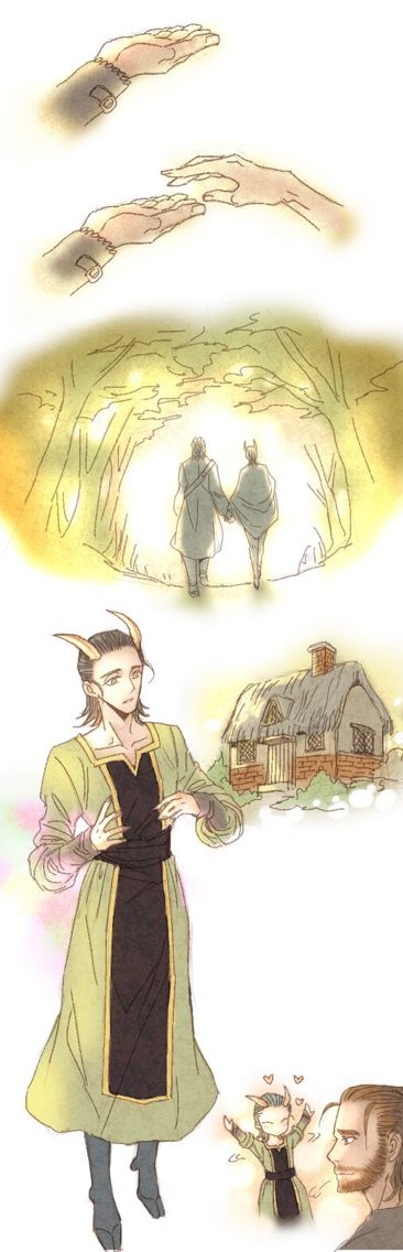 Credit to the author. Loki is so cute