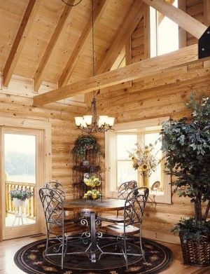 Idea: Quaint little dining area in the corner leading out to the deck.