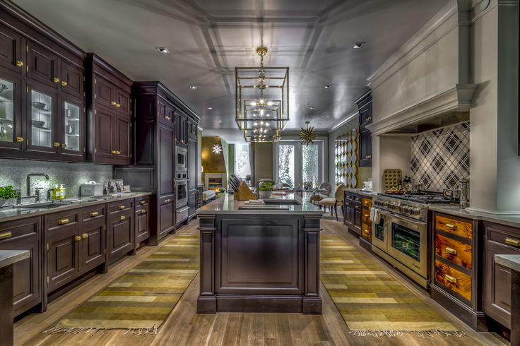 Christopher Peacocks classic and traditional kitchen featuring