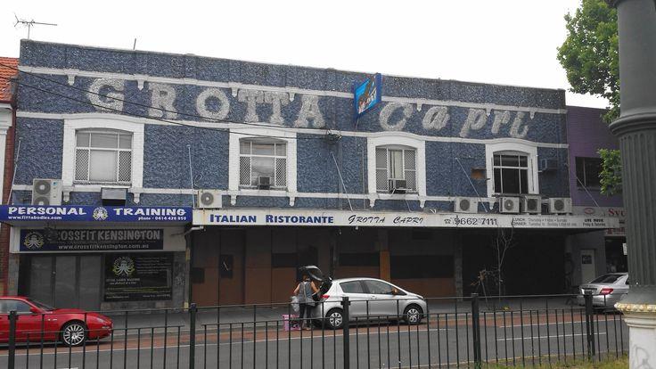 The old Grotta Capri restaurant in Kensington, Sydney