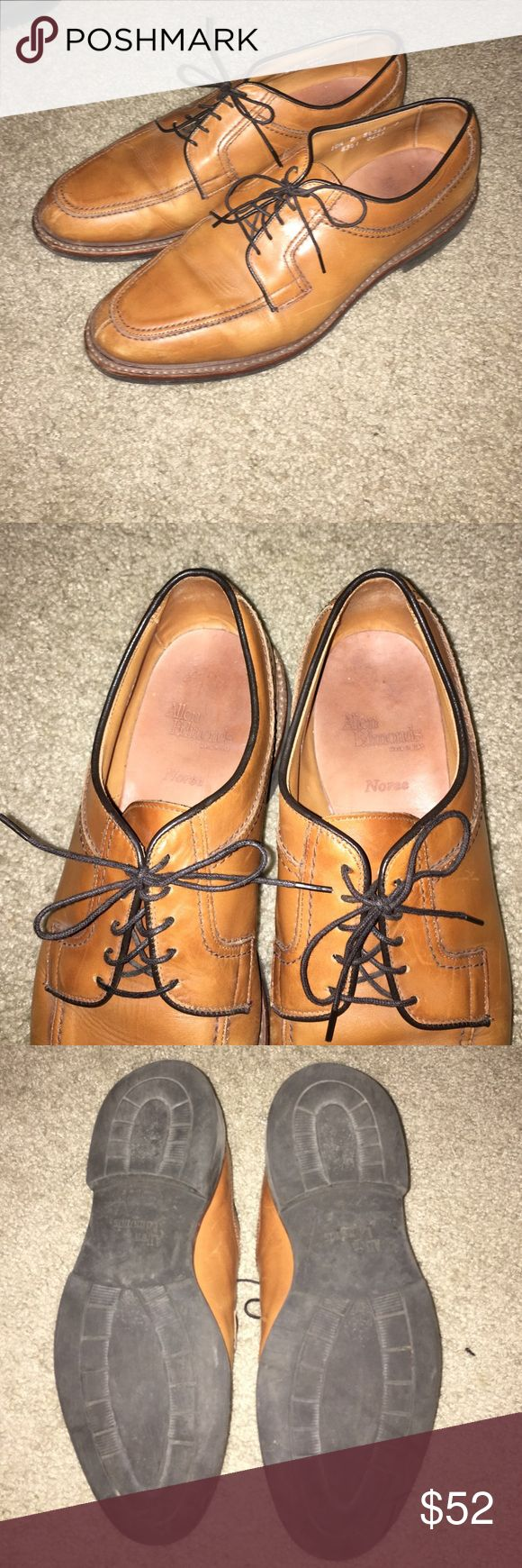 Allen Edmons Norse dress shoes Allen Edmonds Norse dress shoes! Good condition, no rips, tears or stains anywhere. Bottom of shoes aren't horrible, pretty good condition! Have any questions? Feel free to comment below! Allen Edmonds Shoes Oxfords & Derbys