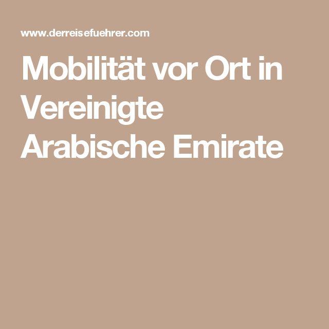 Mobilität vor Ort in Vereinigte Arabische Emirate