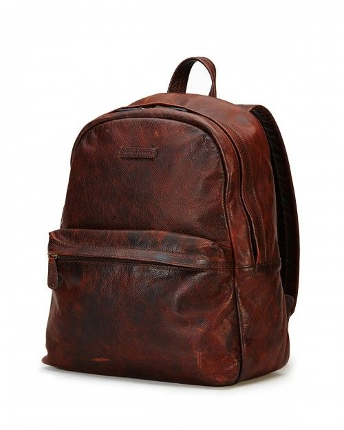 Frye+Tyler+Rugged+Leather+Backpack+Dark+Brown+|+Bag