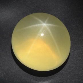 84ct Star Lemon Quartz Lemon Oval Cabochon Transparent/Translucent 24.5x22.5