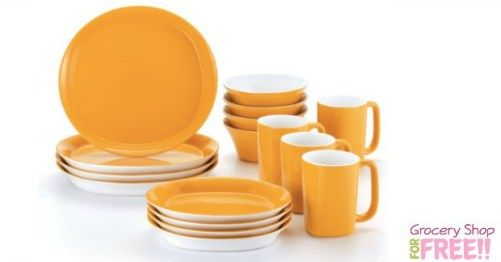 Rachael Ray 16 piece Stoneware Dinner Set Just $37.99 PLUS FREE Shipping!