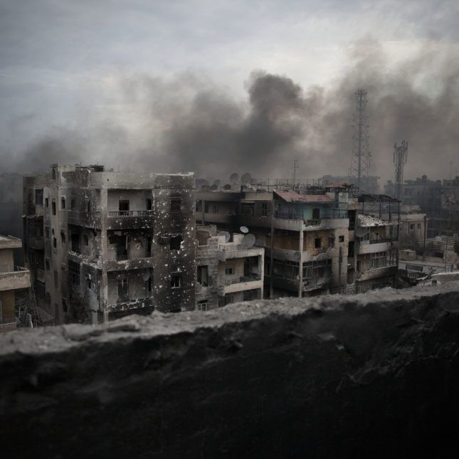 I'm a Syrian doctor who treated patients in Aleppo. I'm in the US to give back