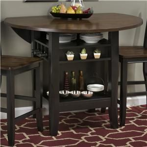 """Braden Birch 48"""" Round Counter Height Table with Drop-Down Leaf"""