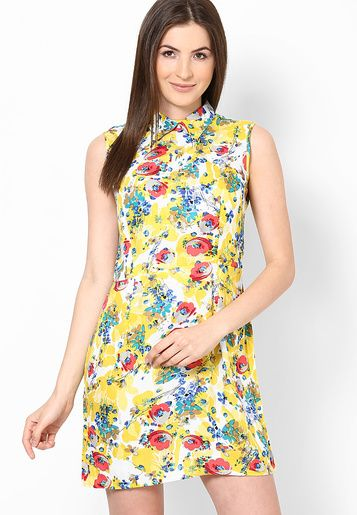 Shibori Designs Yellow Flora Zip Up Collar Dress u can buy it from-http://www.jabong.com/shibori-designs-Yellow-Flora-Zip-Up-Collar-Dress-612689.html?pos=55