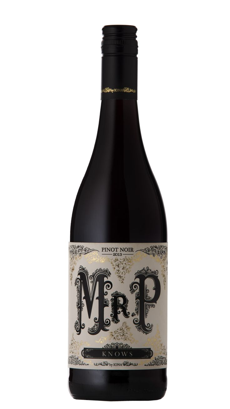 Mr P Pinot Noir 2013 (Iona) Design firm: Code #wine #packaging #SouthAfrica
