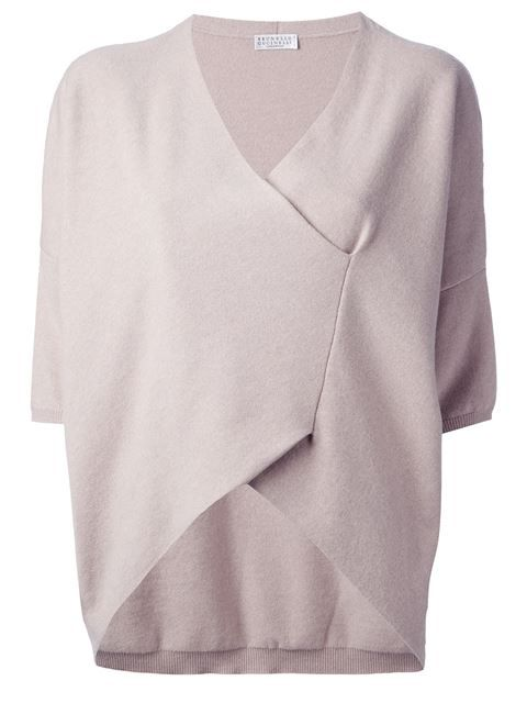 Brunello Cucinelli Wrap Sweater - Divo - Farfetch.com