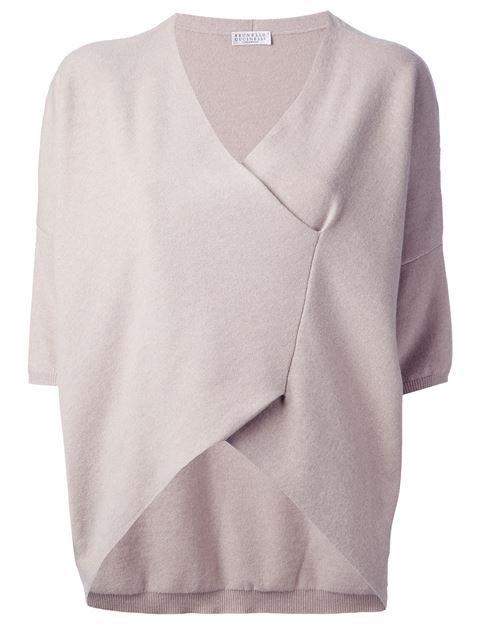 Brunello Cucinelli Wrap Sweater - Divo - Farfetch.com