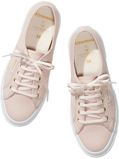Superga x Maison Canvas Sneakers in Blush by Scotch & Soda