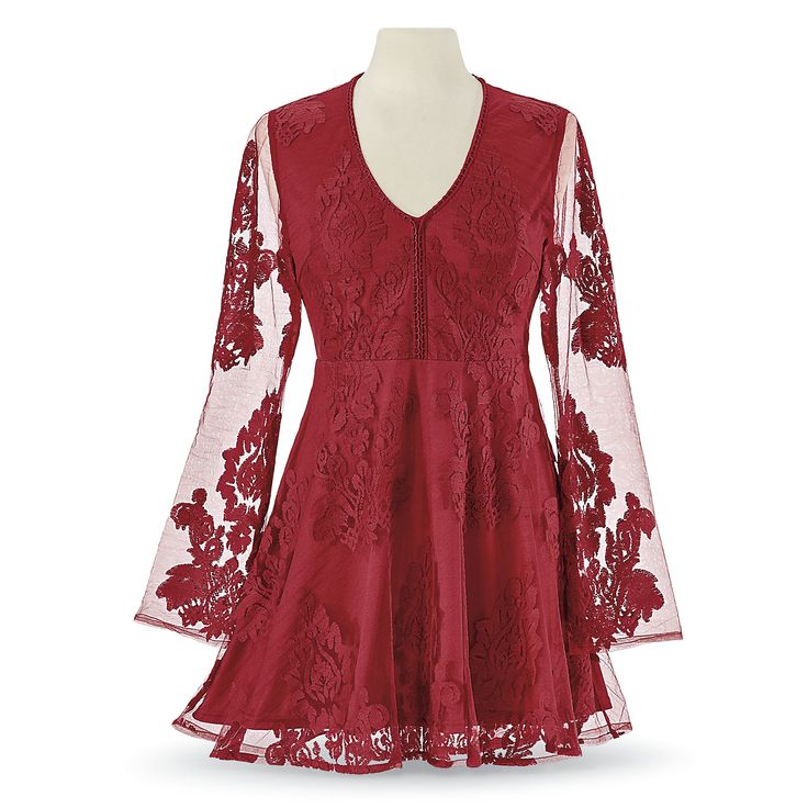 Ruby Lace Overlay Tunic from The Pyramid Collection