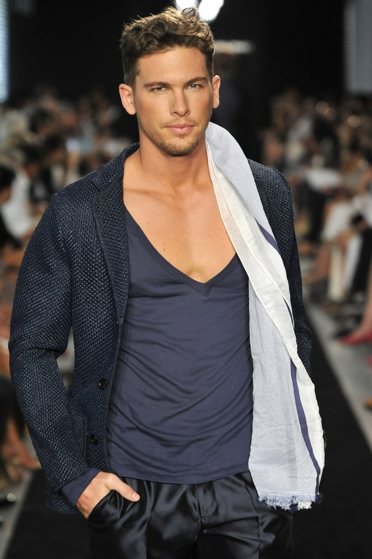 Adam Senn - Ermanno Scervino S/S 2012. Awesome hair/facial hair, what a man!
