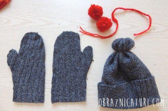 Refolosim tricotajele: caciula, manusi si sosete colorate | Obraznicaturi