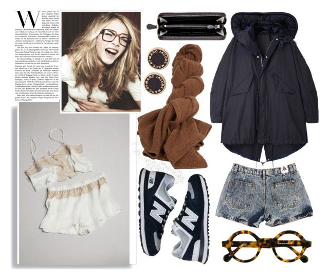 #1691 - Cara's laugh by kelly-m-o on Polyvore featuring polyvore, fashion, style, Sacai Luck, Topshop, New Balance, Bottega Veneta and Marc by Marc Jacobs