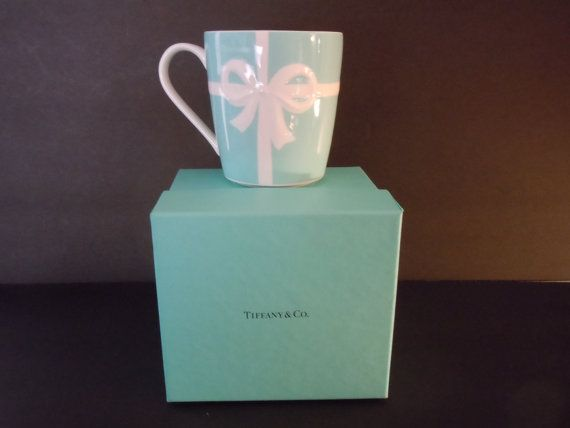 Tiffany and Co Blue Bow Box MUG Double Ribbon New by MSMUnlimited, $65.00