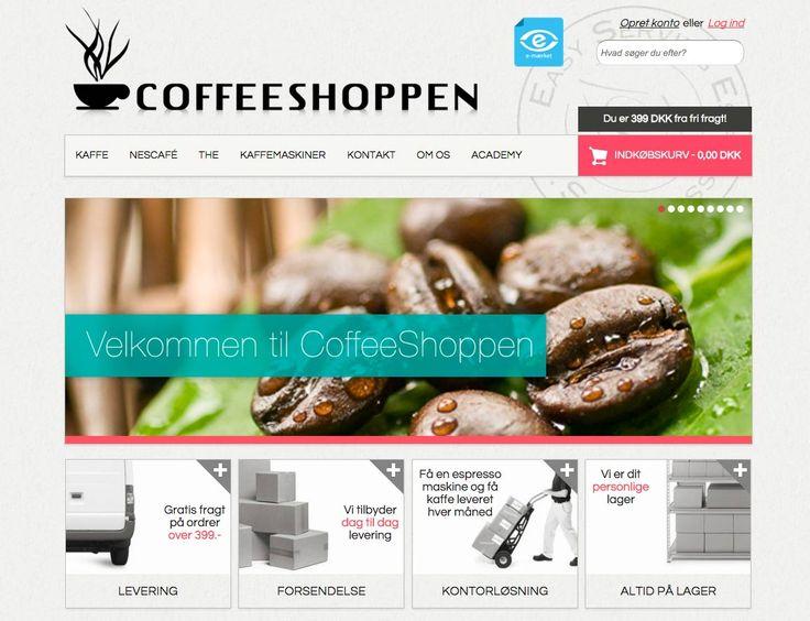 Nyt og responsivt design til Webshoppen der sælger Kaffe og andet godt. #Webdesign #Webshop