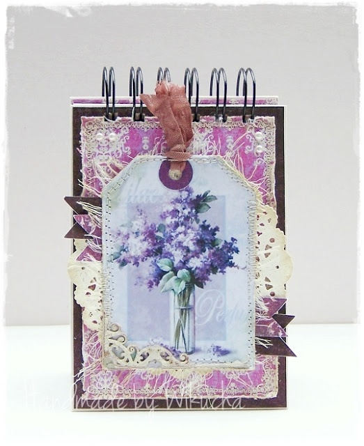 Purple notebook with lilac