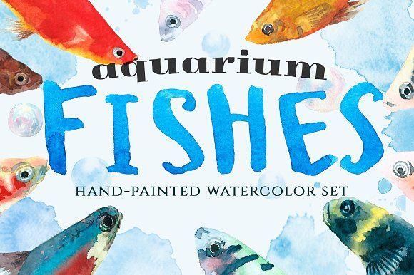 Aquarium fishes by CatherineWheel on @creativemarket