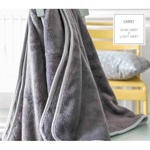 Luxusní francouzské deky v šedé barvě se světle šedým lemováním do postýlky…