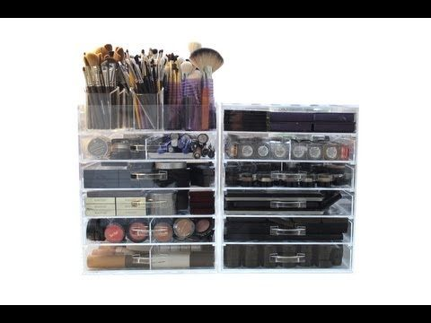 A tour of makeup artist Wayne Goss' collection of cosmetics and tools.  It's makeup wonderland!  But what I love even more is how fiercely organized everything is!