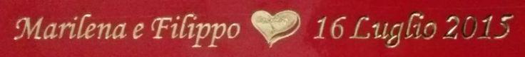 SIGILLI MATRIMONIO colore rosso, stampa a caldo colore ORO.