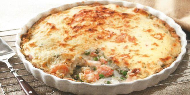 Pastel de Pescado y Camarones, una deliciosa y sencilla receta, con un excelente resultado final
