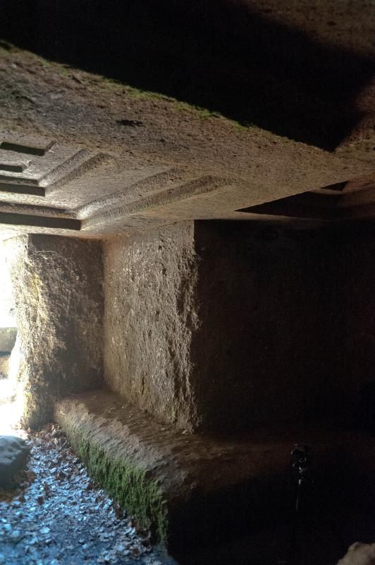 Parco archeologico della Città del Tufo - Sovana (GR) : Tomba Ildebranda.