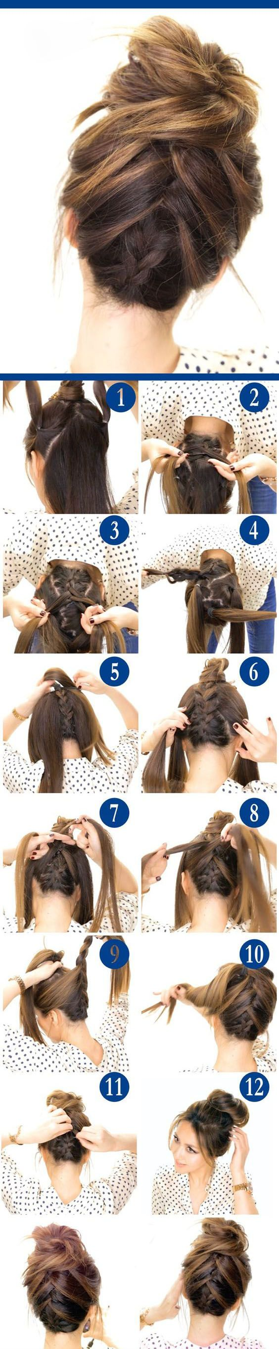 braided decoration for your messy bun