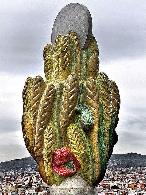 Over the city   Sagrada Familia, Gaudi, Barcelona