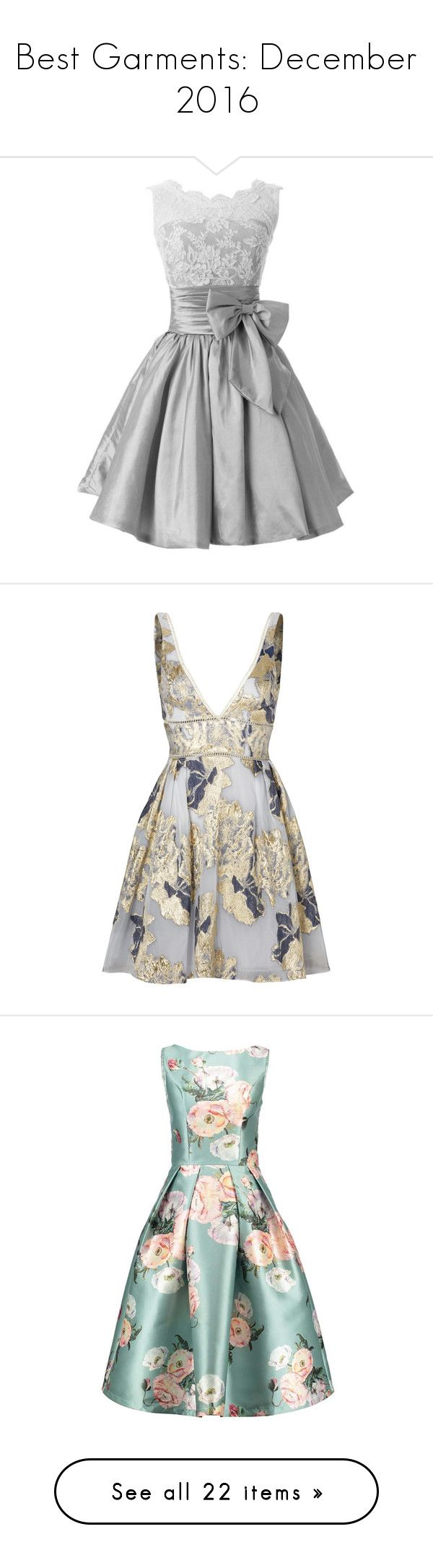 """""""Best Garments: December 2016"""" by sydsydrox ❤ liked on Polyvore featuring dresses, gowns, holiday party dresses, going out dresses, night out dresses, homecoming dresses, homecoming gowns, vestidos, floral print dress and flower printed dress"""