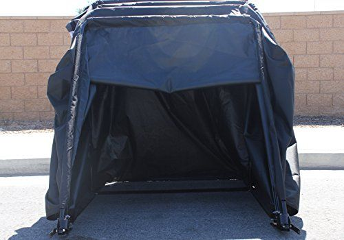 Cycle Shelter Folding Motorcycle Cover : G elite retractable motorcycle cover waterproof outdoor