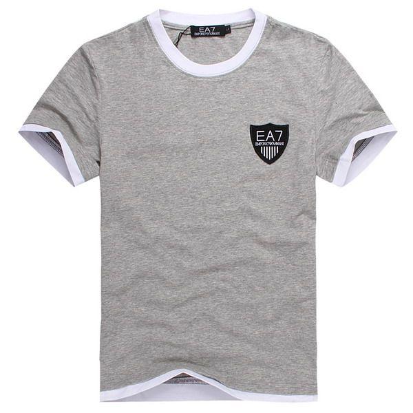 ralph lauren outlet store EA7 Emporio Armani Logo Short Sleeve Men's T-Shirt Grey http://www.poloshirtoutlet.us/