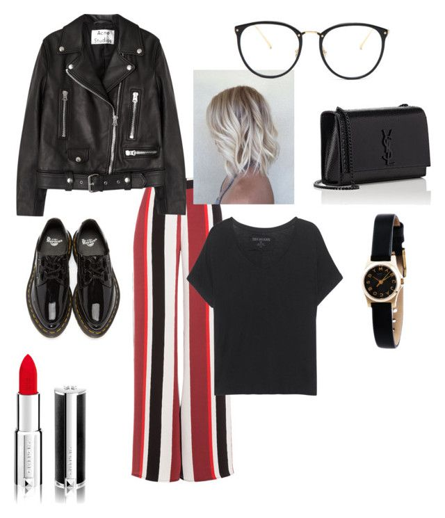 """Untitled #28"" by manjap on Polyvore featuring Zeus+Dione, Dr. Martens, Yves Saint Laurent, Linda Farrow, Givenchy, Acne Studios, True Religion and Marc by Marc Jacobs"