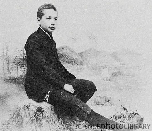"Young Albert Einstein (age 14) Fitzgerald describes Einstein's interest in physics as ""an addiction"", and says that it was important for him to be in control of his life. He also points to Einstein's lack of tact and social empathy, and his occasional naivety, as further traits he had in common with people with autism spectrum disorders. Ioan James adds that Einstein was much better at processing visual information than verbal; Einstein himself once said ""I rarely think in words at all"""