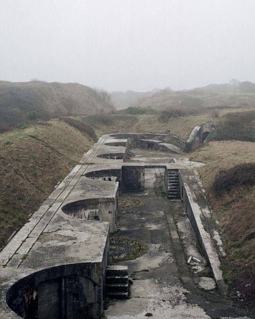 Bunker, photograph by Marc Wilson, in Portland, Dorset, England.